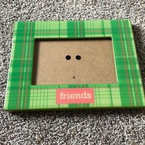 Cute plaid friends 4 x 6 frame